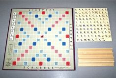 Scrabble  from things organized neatly   #scrabble #thingsilove