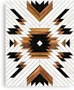 Urban Tribal Pattern 5 - Aztec - Concrete and Wood Canvas Prints by Zoltan Ratko Wood Projects For Beginners, Diy Wood Projects, Wood Crafts, Woodworking Furniture, Woodworking Plans, Woodworking Projects, Popular Woodworking, Woodworking Basics, Woodworking Classes