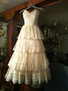 Vintage Lace Gunne Sax Wedding Party Prom Dress by Jessica Mcclintlock | eBay