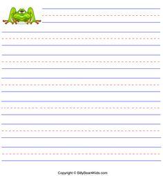Briefpapier met lijntjes en leuke tekeningen