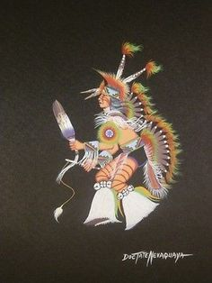 I have been a collector of American Indian Art for over 30 years and have decided to sell some of my wonderful paintings. This DocTate Nevaquaya original painting of is a very collectable original pie. Native American Artwork, American Indian Art, Native American Indians, Native Art, Woody, Nativity, Original Paintings, Drawings, Drawing Ideas