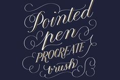 Pointed Pen Procreat