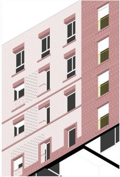architecten de vylder vinck taillieu Photoshop, Architecture Drawings, Digital Collage, Copenhagen, Brick, Multi Story Building, Collages, Interior, Projects