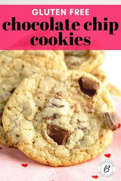 Almond flour chocolate chip cookies are a thin and chewy gluten free chocolate chip cookie. Make these cookies with chunks of chocolate instead of chocolate chips for a decadent treat! #glutenfree #cookie #recipe #chocolate #chunk #chip Almond Flour Cookies, Gluten Free Chocolate Chip Cookies, Gluten Free Cookies, Chocolate Chips, Gf Recipes, Almond Recipes, Cookie Run, Diet Desserts, Tray Bakes