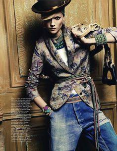 aux portes de cuzco: kasia struss by claudia knoepfel and stefan indlekofer for vogue paris april 2013 | visual optimism; fashion editorials, shows, campaigns & more!