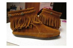 Original Minnetonka Suede Boots by Chicbones Vintage Old Friend Slippers, Moccasins Mens, Right Meow, Minnetonka Shoes, Brown Suede, Suede Boots, Spring Sale, The Originals, Leather