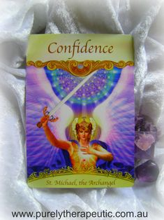 Confidence ~ St. Michael, the Archangel: Archangel Michael is with you, shoring up your confidence so that you can fearlessly face (and even enjoy) the tasks before you. 'Saints & Angels' Doreen Virtue, Ph. D. Purely Therapeutic <3 https://instagram.com/purelytherapeutic