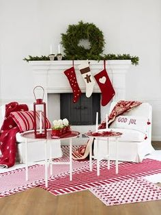 christmas white red