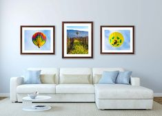 Set of Three 3 Prints, Balloon Ride Photo Set, Large Napa Valley Gift, California Wine Country Collection, Home Decor Vineyard Flower Art by SusanTaylorPhoto on Etsy