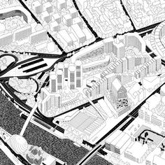 Grand Paris Express : Éva Le roi Plus Architecture Graphics, Architecture Student, Architecture Drawings, Architecture Plan, Axonometric Drawing, Comic Manga, Urban Analysis, Map Design, Googie