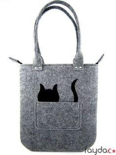 Cat handbag Felt purse Bag for women Gray bag Felt bag My Bags, Purses And Bags, Bag Quilt, Felt Purse, Felt Bags, Cat Bag, Cat Crafts, Denim Bag, Quilted Bag