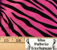 Pink Zebra Print Taffeta Flocking www.thefabricexchange.com
