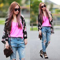 Chloe T - Market Hq Jeans, Kardashian Kollection Heels - Slashed