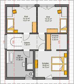 Architekten-Haus Fertighaus Camaro Grundriss DG