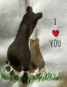 Big Bear Little Bear footprint art