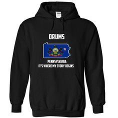 Drums Pennsylvania Tee 2015-2016 - #gift girl #gift sorprise. ADD TO CART => https://www.sunfrog.com/States/Drums-Pennsylvania-Tee-2015-2016-5471-Black-20932774-Hoodie.html?68278