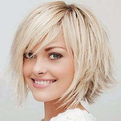 The Hottest Women Short Hairstyles In Early And Fall 2014 : Haircuts 2013 Fall 2014 Short Hairstyles Short Haircuts Hairstyles With Neck Length Layered Bob With Shag Touch Style And Sided Bang
