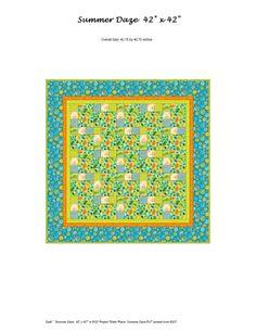 Summer Daze quilt pattern by Mary Ann Altendorf