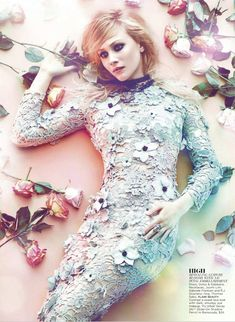 Sarah Gadon by Chris Nicholls for Flare May 2012 as 'Amazing Lace'