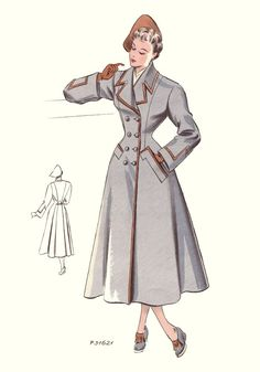 Gorgeous late 1940s princess cut winter coat been looking for one like this forever.