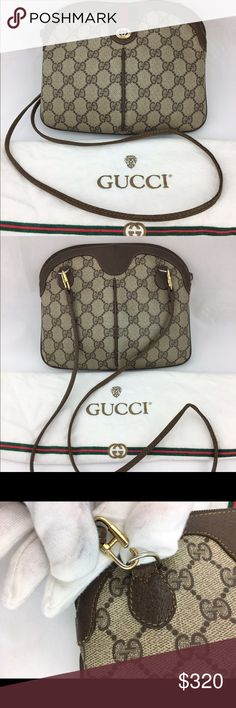Gucci 3 way Clutch crossbody bag vintage brown Excellent vintage condition popular item! Gucci Bags Crossbody Bags