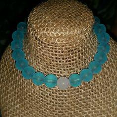 Lokai inspired bracelet Handmade elastic beaded Lokai inspired bracelet. After purchasing the listing please comment below what size you would like Jewelry Bracelets