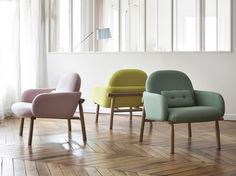 Fauteuil GEORGES - design de Guillaume Delvigne #hartô #fauteuil #georges #pink #watergreen #lemonyellow #product #decoration #home #interior