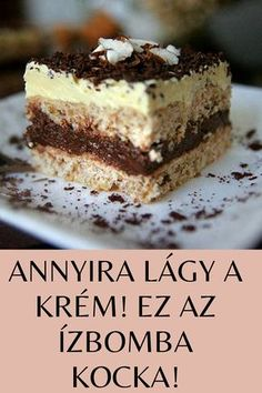 Hungarian Desserts, Hungarian Recipes, Sweet Recipes, Cake Recipes, Dessert Recipes, Osho, Cake Decorating Videos, Cake Bars, Ground Beef Recipes