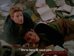 I feel like this line right here. During this scene. Explains all anyone needs to know about the whole idea of BtVS. Men dropping in to save the women, but they've already saved themselves. Thank you Joss Whedon.