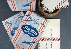 air mail stationary