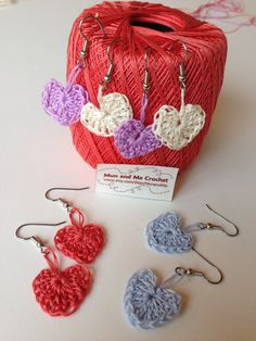 Check out these cute hear earrings in my #etsy shop perfect for Valentines Day: Valentines day Gift|for|her, Heart earrings dangle, heart dangles, heart jewelry, pink earrings, mini heart earrings, teen gift, mom gift #jewelry #earrings #purple #crochetaccessories #purpleearrings #babyblue #gift #heart #valentine