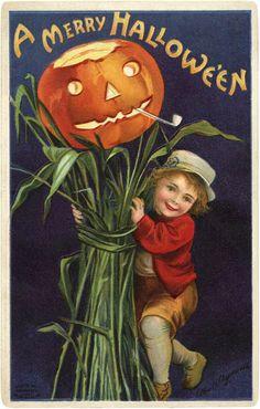 Vintage Jack O Lantern Image - The Graphics Fairy
