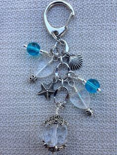 Beaded Keychain / Purse Charm / Purse Bling by TheRusticOwlDesigns, $12.00/ I absolutely love this clasp. How easy would this be to put together by myself?