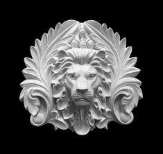 Lion Face and Acanthus Leaf Resin Center Animal Sculptures, Lion Sculpture, Greek Mythology Tattoos, Pillar Design, Stone Lion, Black Tattoo Art, Modelos 3d, Wood Carving Art, Paludarium