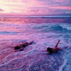 Beach ocean sea sunset