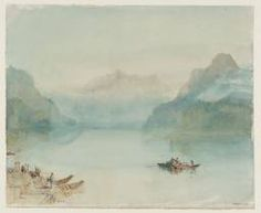 Joseph Mallord William Turner 'Lake Lucerne: The Bay of Uri, from Brunnen', c.1841–2, Switzerland