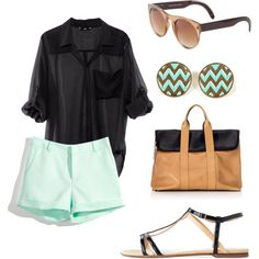 teal and black for summer