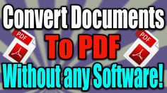 How to Convert Documents To PDF Without Apps in windows 10!