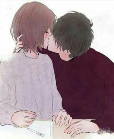 Anime Couples Tokyo Ghoul // Hinami and Ayato's kiss Anime Couples Drawings, Anime Couples Manga, Cute Anime Couples, Anime Guys, Manga Anime, Anime Couple Kiss, Couple Manga, Ken Tokyo Ghoul, Cute Couple Art