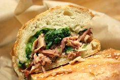 New favorite dish added by Contributing Chef Bridget Batson. #Any #sub from Merigan Sub Shop. #roasted #braised #pork #sharp #provolone #rapini #longhots #submarine #sandwich #sammie #sando #arista #italiancombo #porchetta #lunch #dinner #eat #hungry #cheapeats #bread #meat #cheese #SF #food #foodpics #instagood #chefsfeed