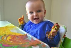 Painting with flour, water and food coloring Found on Hellobee.com!