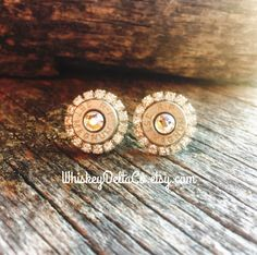 Country wedding // 357 Magnum // April birthstone // country chic // bullet earrings // #WhiskeyDeltaCo