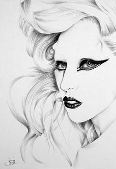 Lady Gaga portrait