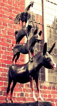#Bremer Stadtmusikanten, #Bremen, #Germany    © Wuzur, de.wikipedia