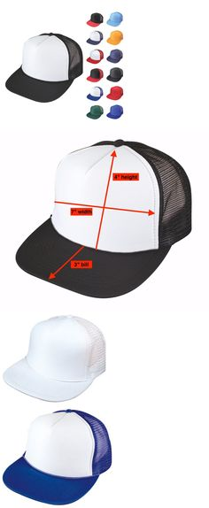 Mens Accessories 45053  1 Dozen Flat Bill Blank 5 Panel Mesh Foam Trucker  Baseball Hats Caps Wholesale -  BUY IT NOW ONLY   34.99 on  eBay   accessories ... ed6c3affbb21