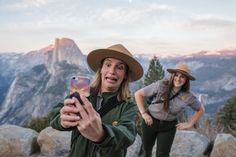 Picture of rangers in Yosemite taking a selfie