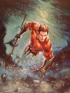 Aquaman by Clayton Crain.