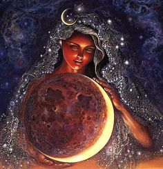Moon goddess. Check out www.thehairshaman.com for the best days to cut your hair!
