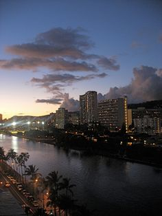 The Ala Wai Canal and Waikiki, Honolulu, Oahu, Hawaii Travel Images, Travel Pictures, Travel Pics, Travel Quotes, Maui Travel, Travel Deals, Travel Destinations, All About Hawaii, Islas Cook