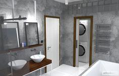 Mini šatna přímo v koupelně spojená s prádelnou Bathtub, Bathroom, Projects, Standing Bath, Washroom, Log Projects, Bathtubs, Blue Prints, Bath Tube